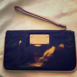 Kate Spade Black Parent Leather Wristlet